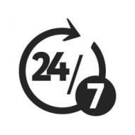 logo 24h sur 24 7jours sur 7
